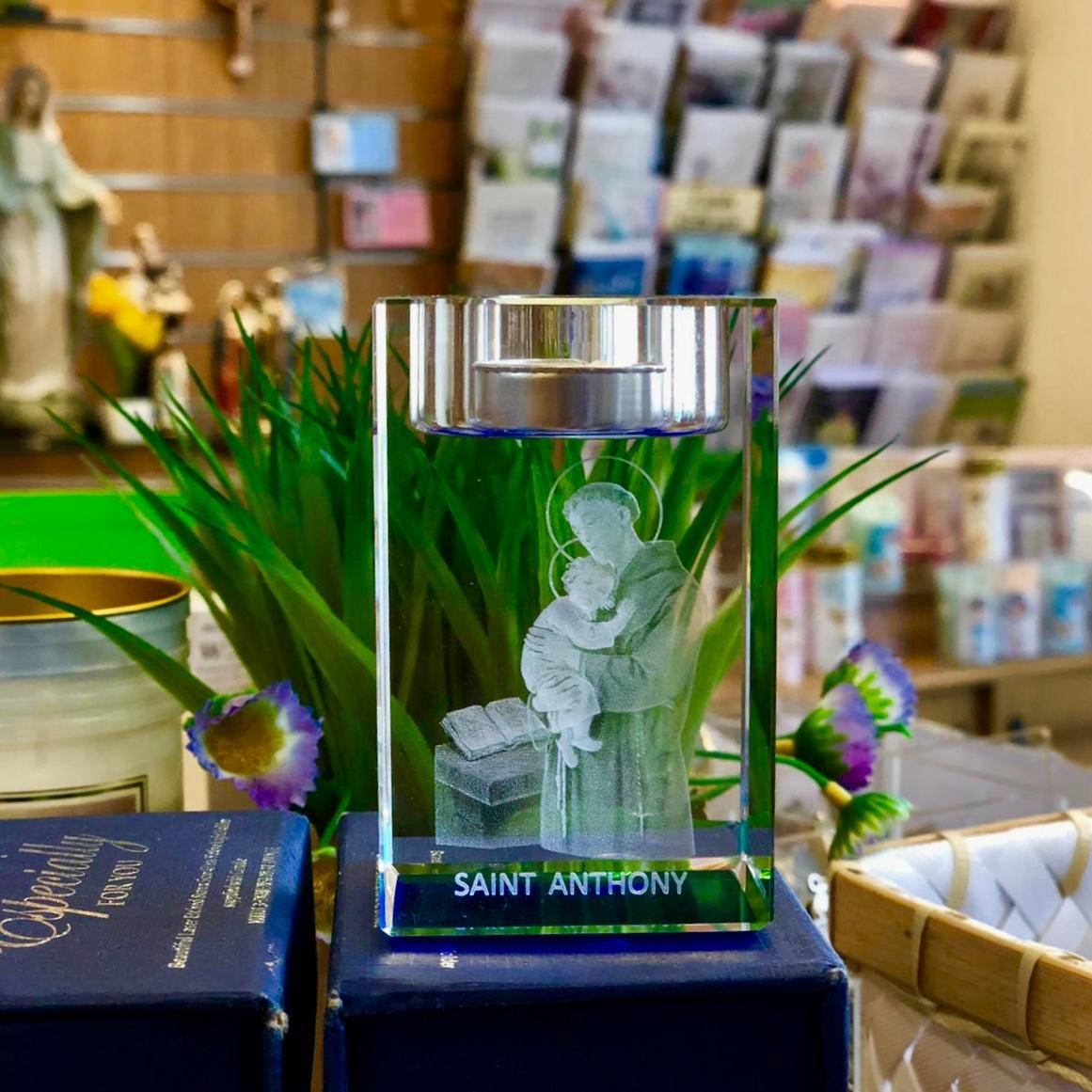 St Anthony candle holder