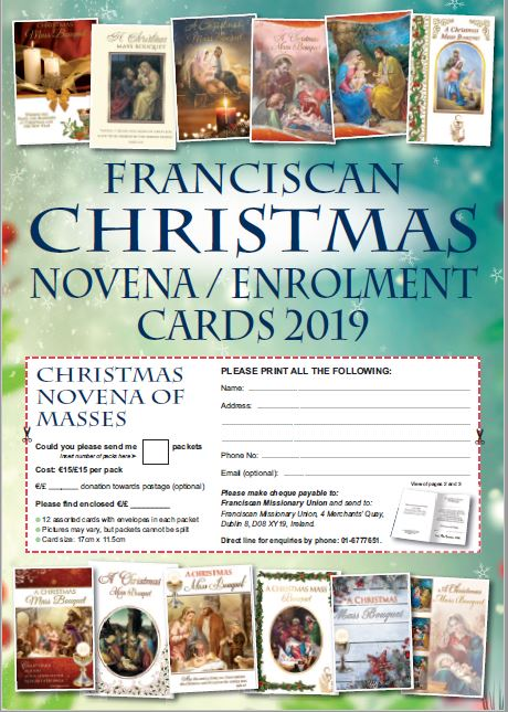 Christmas novena cards