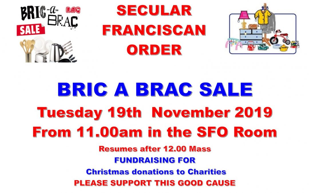 CAKE & BRIC A BRAC SALE Tuesday 19th November