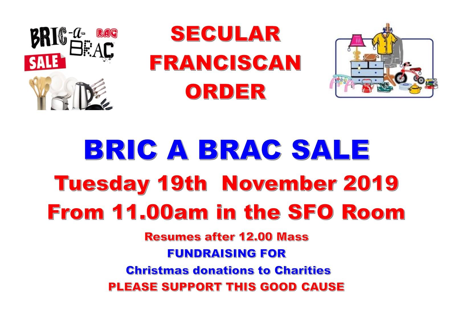 SFO Bric a Brac sale November 2019