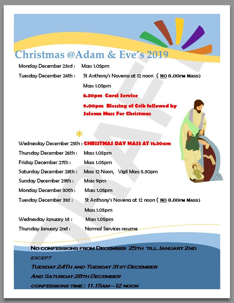 Christmas 2019 timetable poster(2)