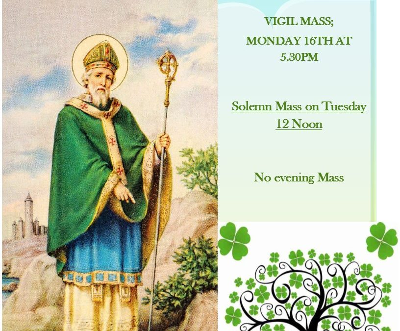 ST. PATRICK'S DAY MASSES