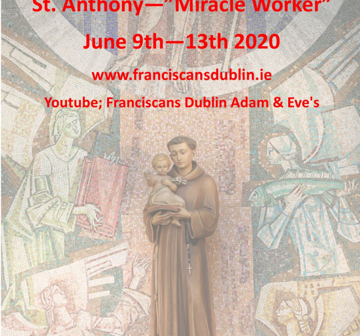 St Anthony's Novena in  June – Please click to view details