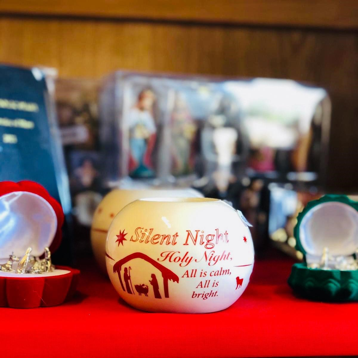 Christmas silent night candle